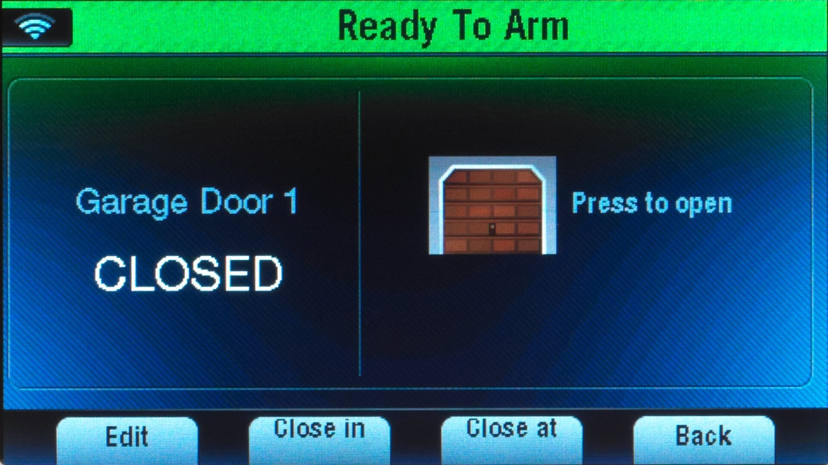 L5200 Screen Garage Door Closed